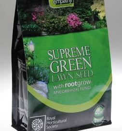 RHS Supreme green lawn seed with rootgrow (RHS Empathy lawn Seed with rootgrow)