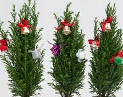 Table top tree with decorations (table top Christmas tree)