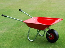 Red Metal Children's Wheelbarrow