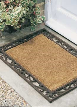 Cast-iron and coir doormat