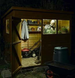 Solar shed light set