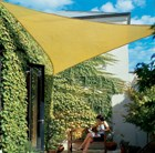 Coolaroo 3.6m triangle shade sail - terracotta