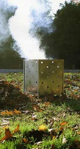 Galvanised square incinerator