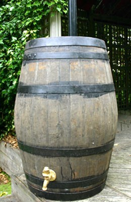 Large oak whiskey barrel - water butt