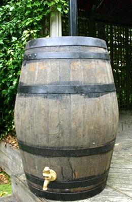 Large oak whiskey barrel - water butt