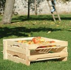 Pair of stackable wooden apple trays