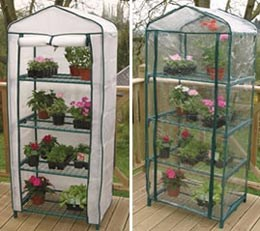 4 Tier growhouse (includes a polythene cover + FREE winter fleece cover)