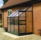 4' x 6' Aluminium lean-to greenhouse frame with base & Polycarbonate pack