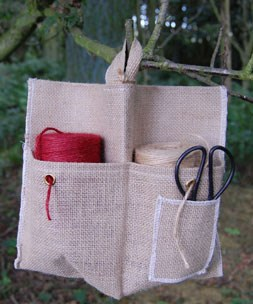 Hessian double pocket twine dispenser