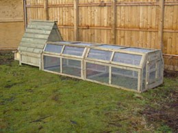 Swiss chalet for chickens with 10ft run