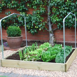 Timber grow bed accessory - pair of steel Support Hoops