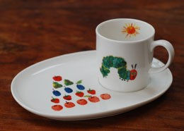 The very hungry caterpillar mug and snack plate