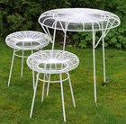 Patio table and two stools