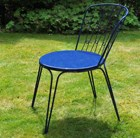 Versailles steel dining chair - royal blue
