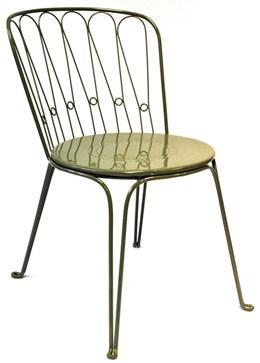 Versailles steel dining chair - lichen green