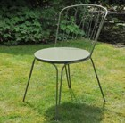 Versailles steel dining chair - lichen green