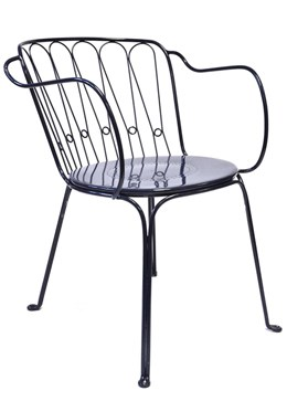 Versailles steel arm chair - royal blue