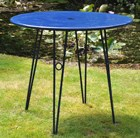 Versailles steel dining table - royal blue