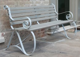 Montpellier bench - cool grey