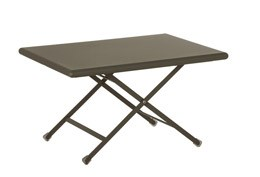 Folding low metal table