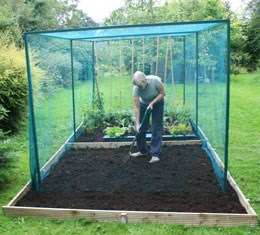 Heavy duty fruit cage  - 4m x 4m