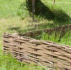 Woven willow edging hurdle