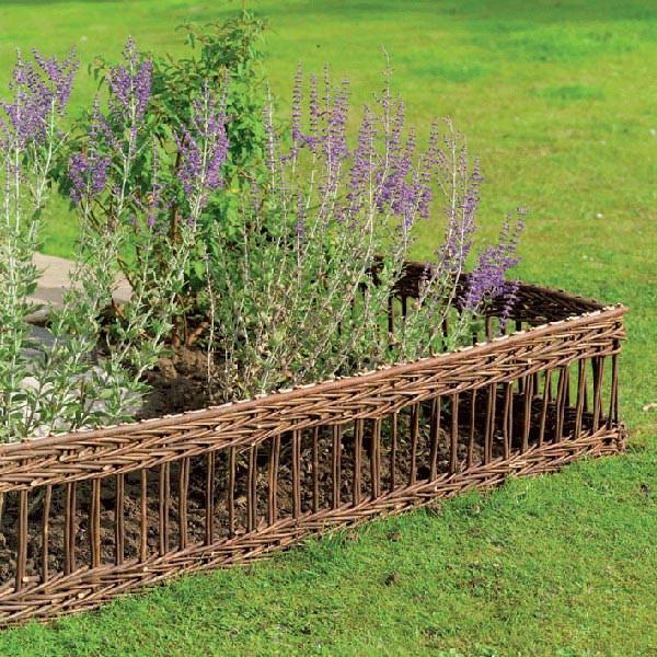 Classic willow edging hurdle