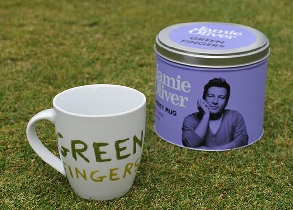 Green fingers mug by Jamie Oliver