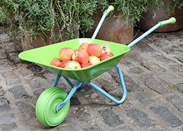 Childrens Green Wacky Wheelbarrow