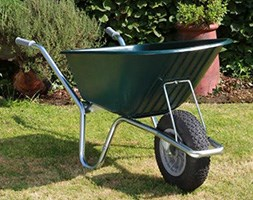 Blue cruiser wheelbarrow