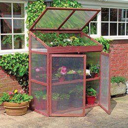 Extra large wooden growhouse