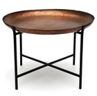 Copper textured table