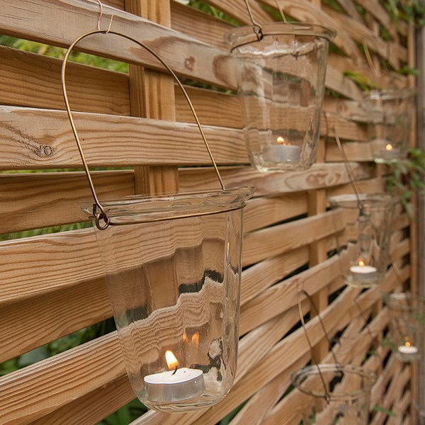 Hanging glass lantern