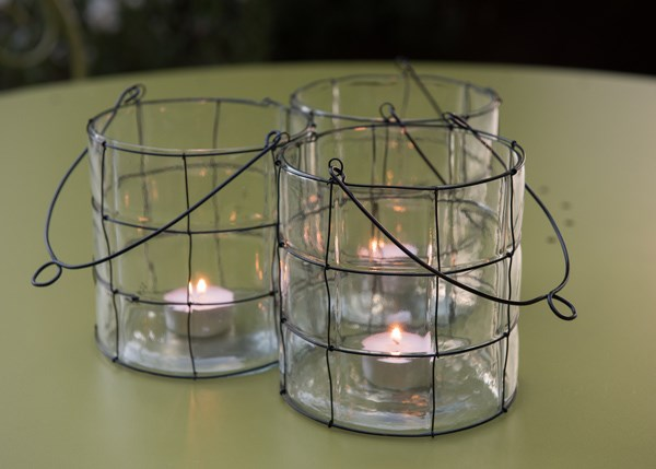 Low glass blown lantern