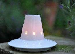 Tealight and soucoupe