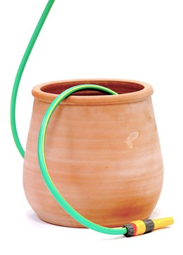 Terracotta hose pot