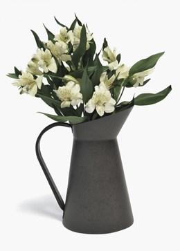 Metal jug vase