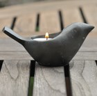 Bird tea light holder