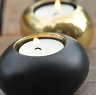 Black pebble tea light holders