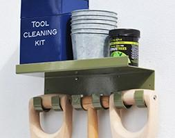 Triple tool hook with shelf