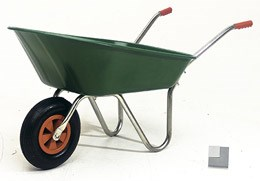 Boxer green wheelbarrow