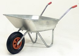Galvanised bulldog wheelbarrow