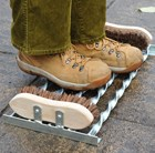 Boot scraper with boot brush