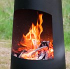 Contemporary steel chimenea circo black