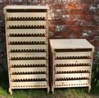 Traditional apple rack 10 drawer - pine