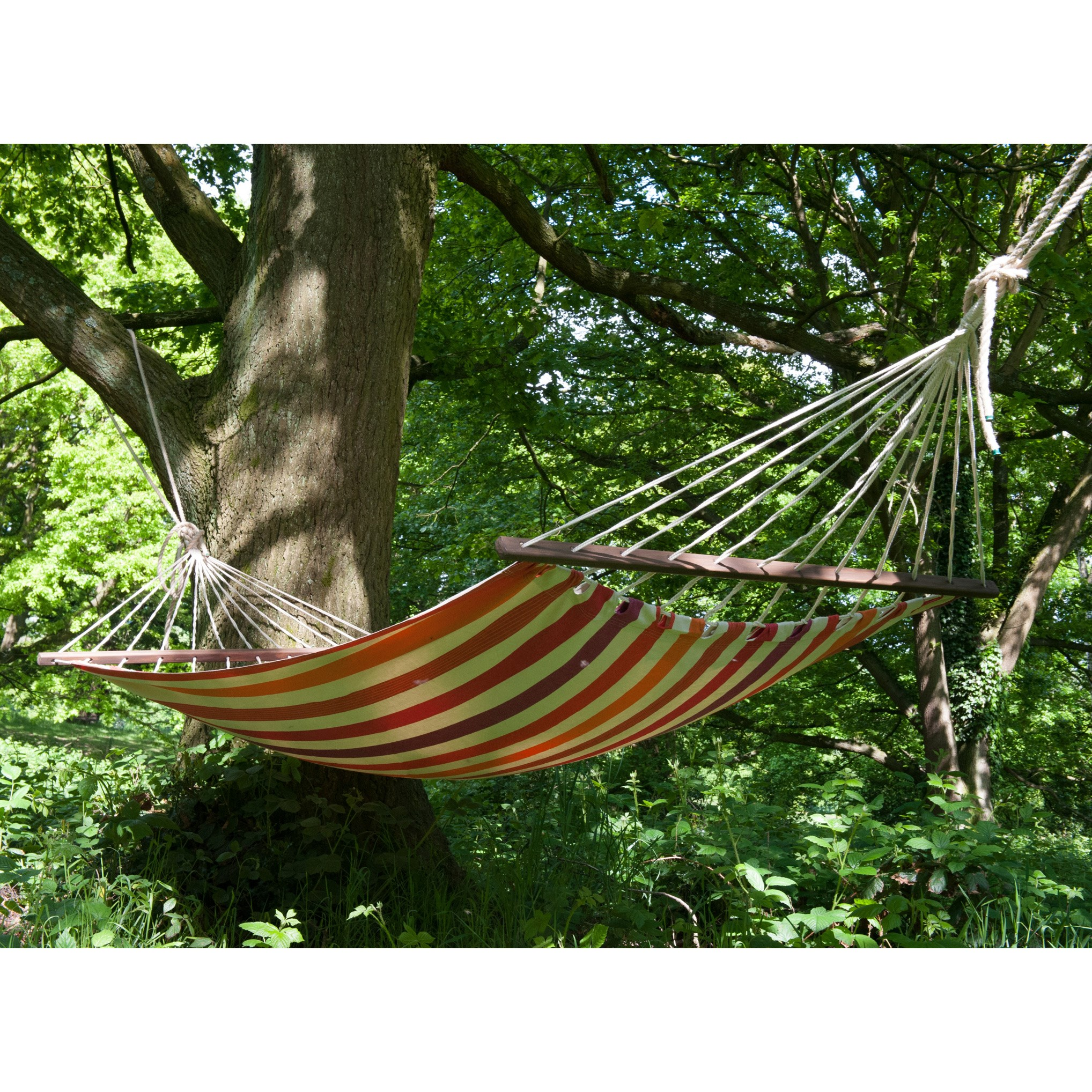 Swing hammock with bars - norfolk stripe