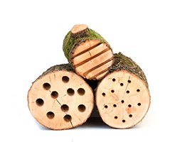 Insect log cabins - set of 3