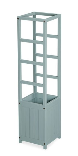 Wooden planter with support tower