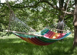 Swing hammock with bars - rainbow