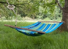 Swing hammock with bars - blue